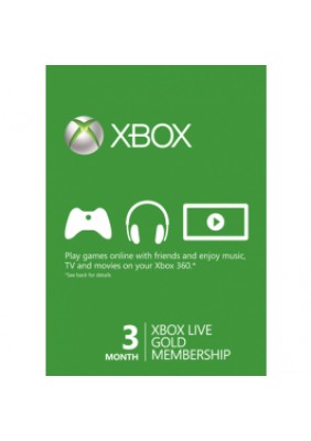 3 Months Xbox Live Gold Key